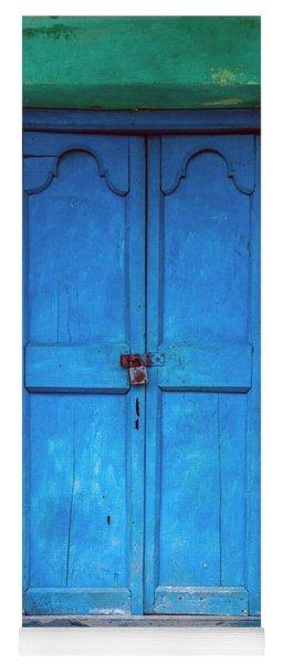 Blue Indian Door Yoga Mat