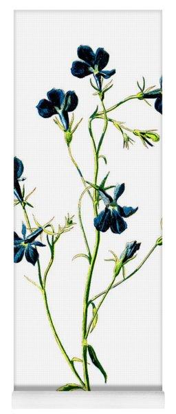 Blue Lobelia Flower Yoga Mat