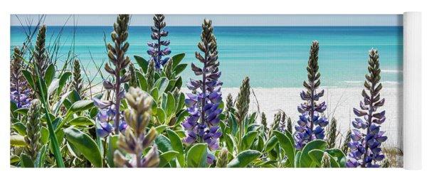 Blue Lupine On The Beach Yoga Mat