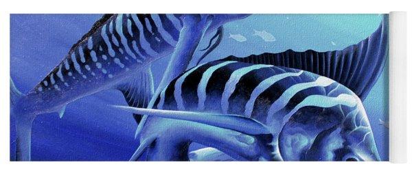 Blue Marlins Yoga Mat