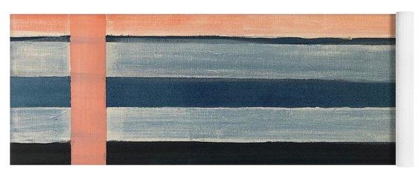 Blue Peachy Stripes Yoga Mat