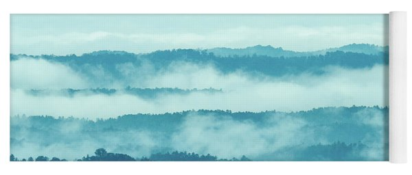 Blue Ridge Mountains Layers Upon Layers In Fog Yoga Mat