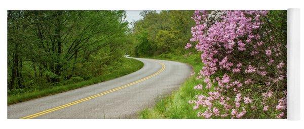 Blue Ridge Parkway In Bloom Yoga Mat
