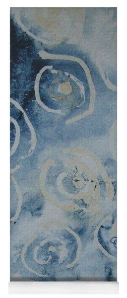 Blue Spirals Yoga Mat