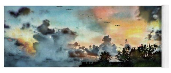 Blue Sunset Over Sanibel Island Yoga Mat