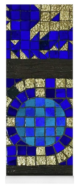 Blue Tile Detail Yoga Mat
