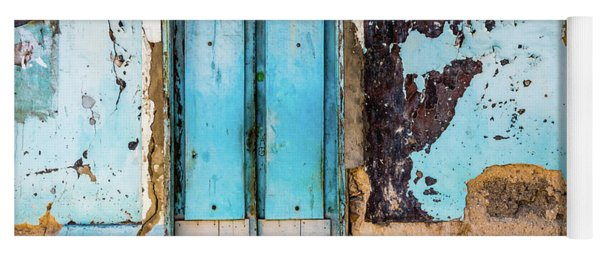 Blue Wall And Door Yoga Mat