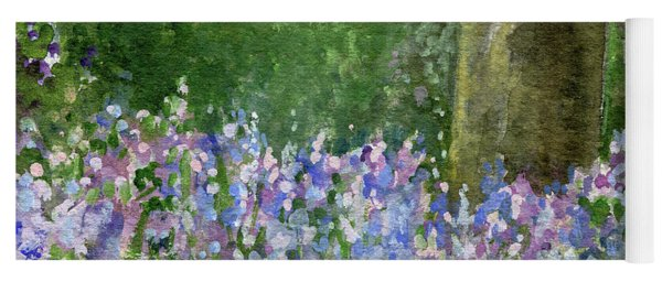Bluebells Under The Trees Yoga Mat