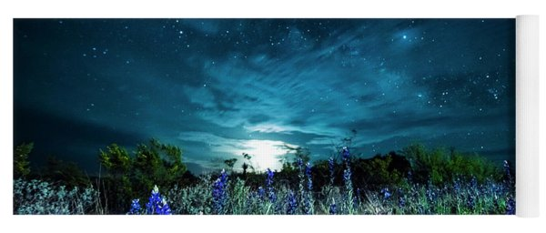 Bluebonnet Moonrise Yoga Mat