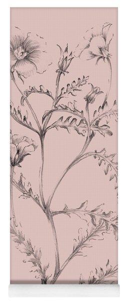 Blush Pink Flower Illustration I Yoga Mat