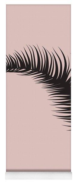 Blush Pink Leaf II Yoga Mat