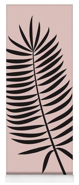 Blush Pink Leaf IIi Yoga Mat