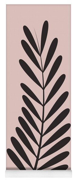 Blush Pink Leaf  Yoga Mat