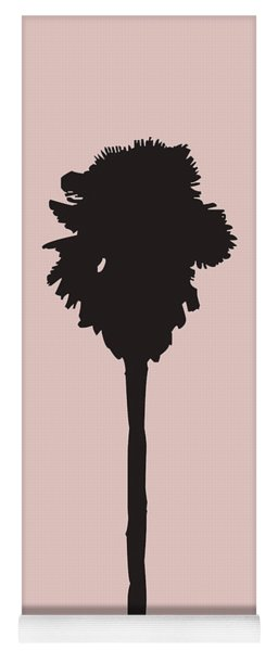 Blush Pink Palm Tree Yoga Mat