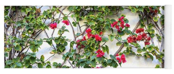 Blushing Blooms Yoga Mat