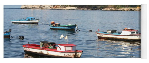 Boats In The Harbor Havana Cuba 112605 Yoga Mat