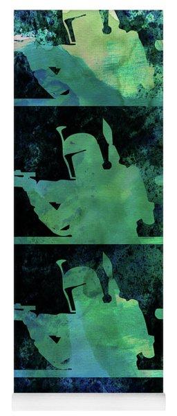Boba Fett Collage Watercolor 2 Yoga Mat