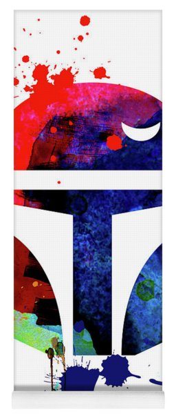 Boba Helmet Cartoon Watercolor Yoga Mat
