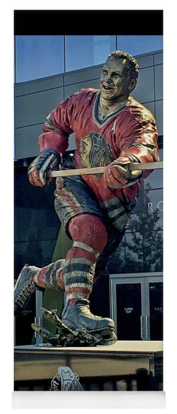 Bobby Hull Sculpture In Perfect Rim Light  Yoga Mat