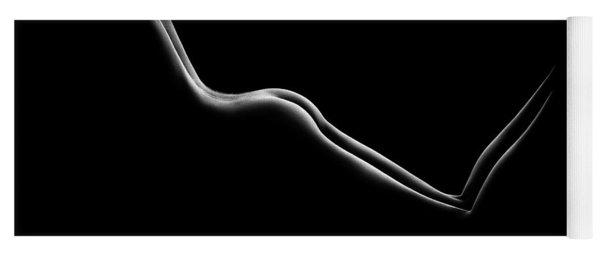 Bodyscape Nude Woman Buttocks Yoga Mat