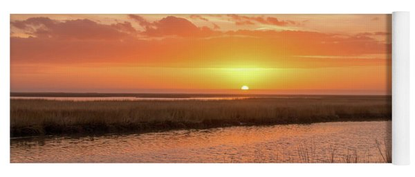 Yoga Mat featuring the photograph Bombay Hook Sunrise by Kristia Adams