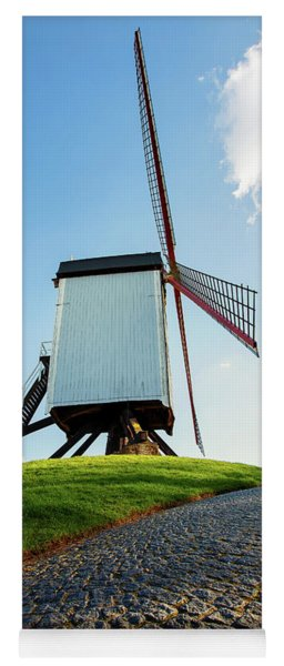Bonne Chiere Windmill Bruges Belgium Yoga Mat