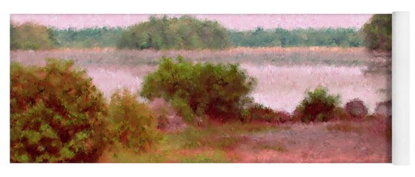 Borderland Pond With Monet's Palette Yoga Mat