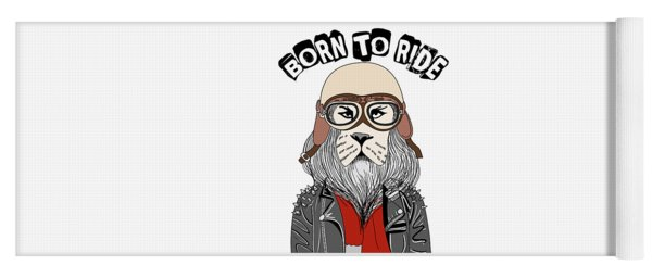 Born To Ride - Baby Room Nursery Art Poster Print Yoga Mat