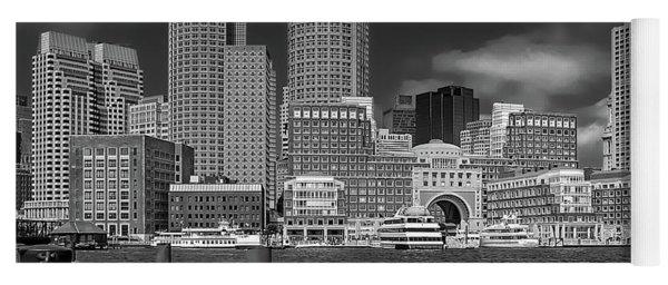 Boston Harbor Skyline Yoga Mat