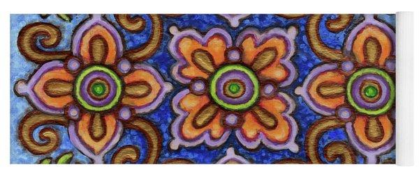 Botanical Mandala 1 Yoga Mat