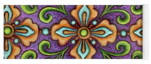 Botanical Mandala 10 Yoga Mat