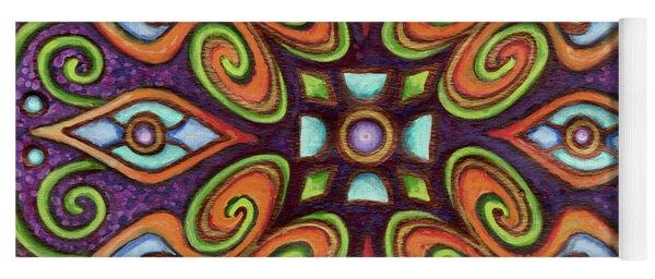 Botanical Mandala 11 Yoga Mat