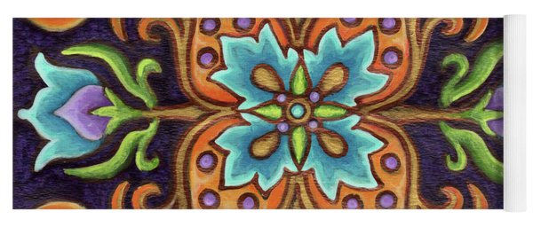 Botanical Mandala 12 Yoga Mat