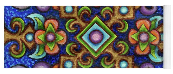 Botanical Mandala 3 Yoga Mat
