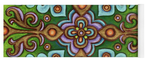 Botanical Mandala 4 Yoga Mat