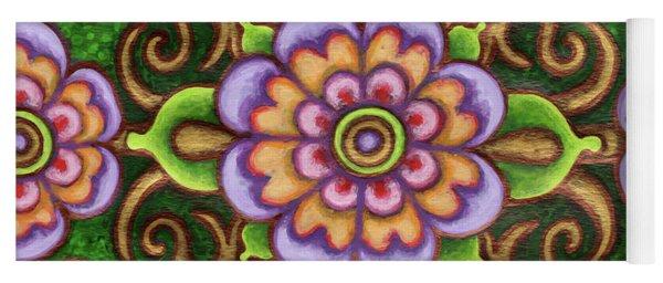Botanical Mandala 5 Yoga Mat