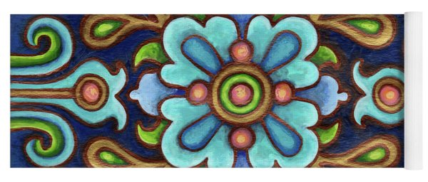 Botanical Mandala 9 Yoga Mat