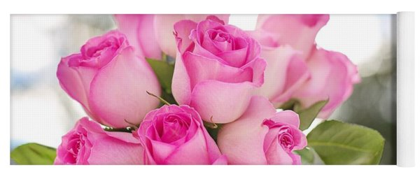 Bouquet Of Pink Roses Yoga Mat
