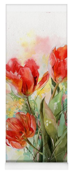 Bouquet Of Red Tulips Yoga Mat