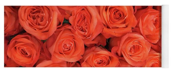 Bouquet Of The  Living Coral Roses Yoga Mat