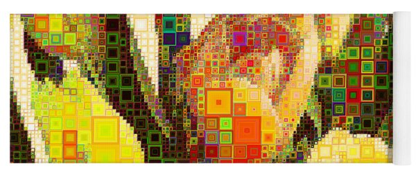 Bouquet Of Tulips In Abstract Squares 20190201sq Yoga Mat
