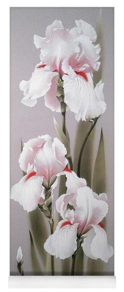 Bouquet Of White Irises Yoga Mat