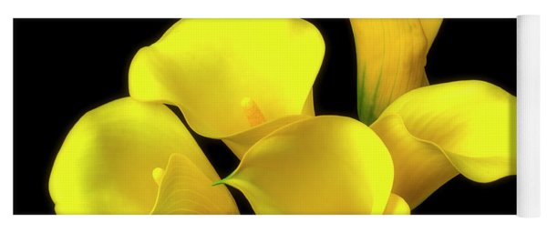 Bouquet Of Yellow Calla Lilies Yoga Mat