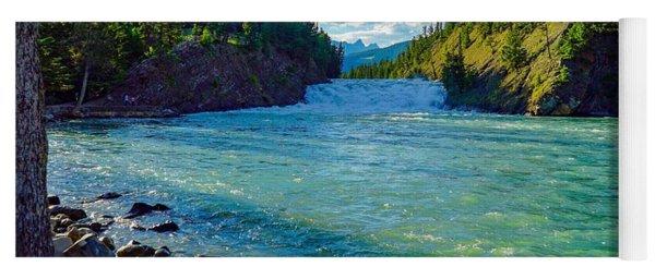 Bow River In Banff Yoga Mat