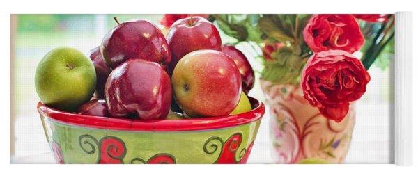 Bowl Of Red Apples Yoga Mat