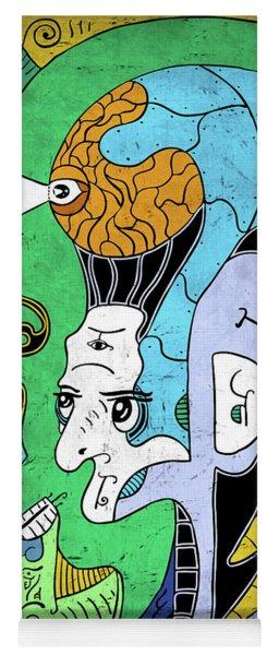 Yoga Mat featuring the digital art Brain-man by Sotuland Art
