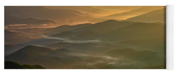 Yoga Mat featuring the photograph Brasstown Bald Mists by Andy Crawford
