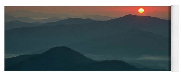 Yoga Mat featuring the photograph Brasstown Bald Sunrise by Andy Crawford