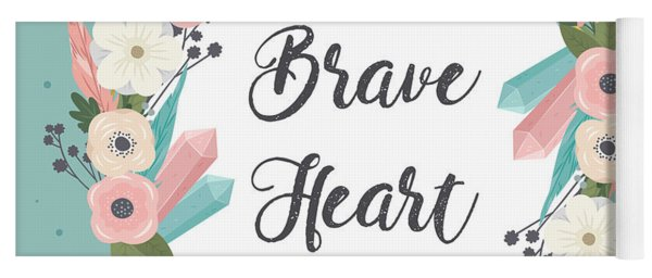 Brave Heart - Boho Chic Ethnic Nursery Art Poster Print Yoga Mat