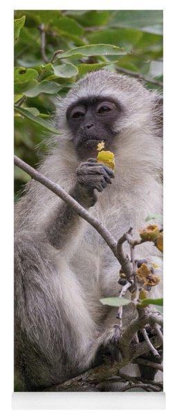 Breakfasting Monkey Yoga Mat